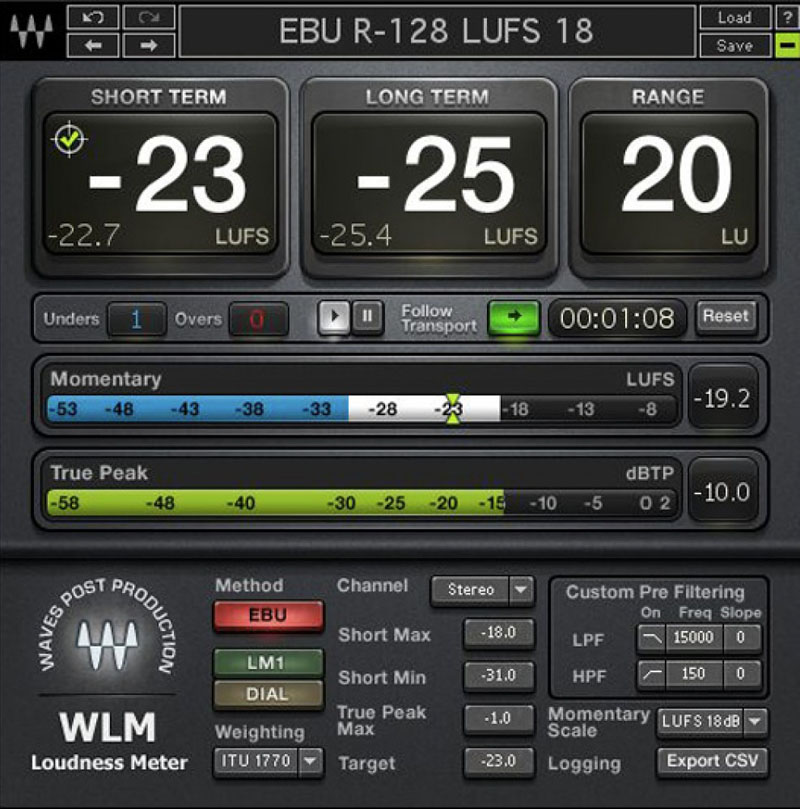 Waves Audio WLM Loudness Meter