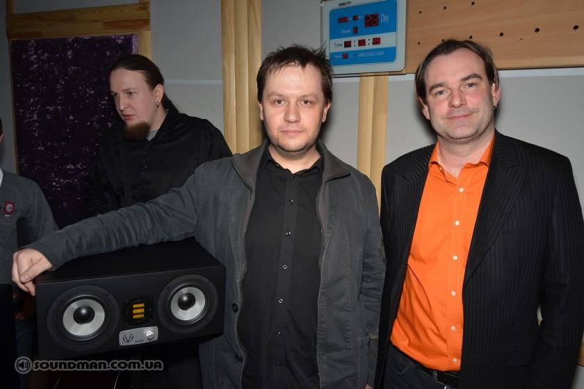 Алексей Малайный (Soundman) и Roland Stenz, основатель EVE Audio и соучередитель ADAM