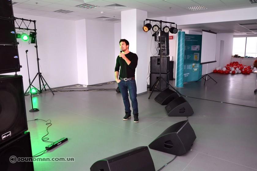 Саундчек Василия Бондарчука с мониторами REC M15