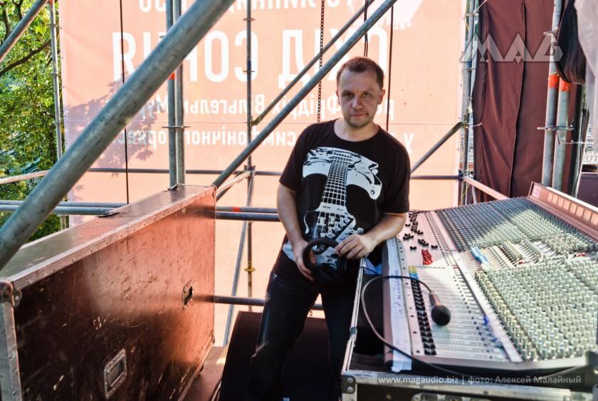 Алексей Малайный (Soundman) мониторный звукорежиссер концерта