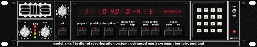 AMS NEVE AMS RMX16 DIGITAL REVERB PLUG-IN FOR UAD-2