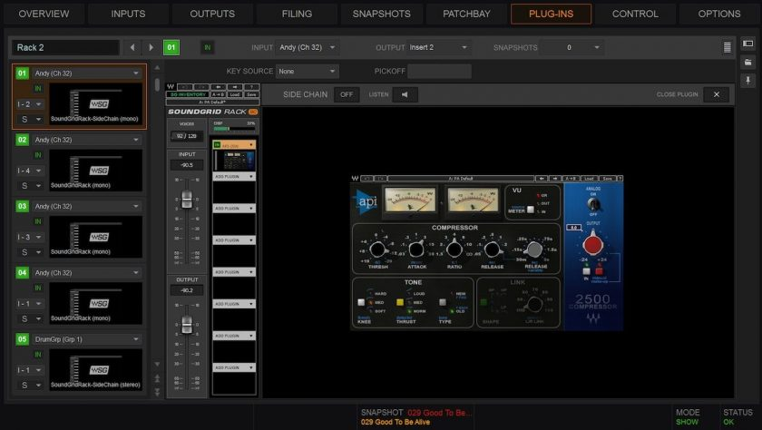 Waves SoundGrid integration