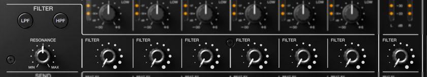 Pioneer DJM-V10 фильтр