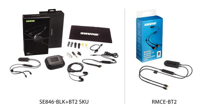 Shure SE846-BLK+BT2 SKU и RCME-BT2