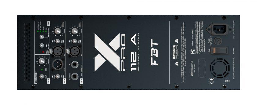 FBT X-PRO 112 A панель управления
