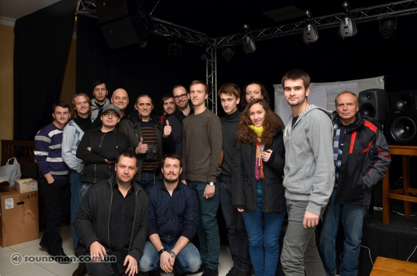 Участники мастер-класса от Genelec