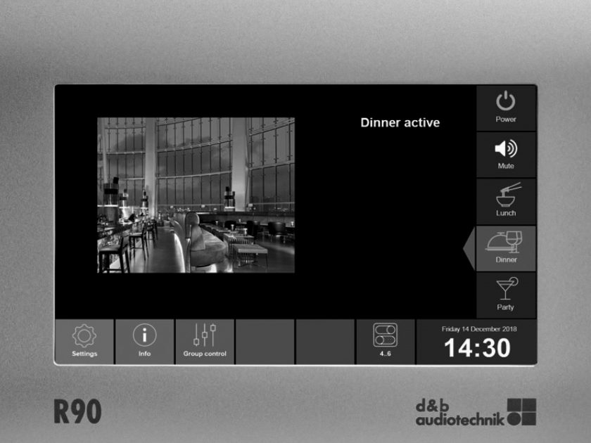 d&b audiotechnik R90 Touchscreen remote control